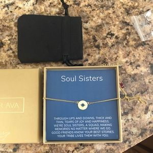 Soul Sisters gold tone necklace